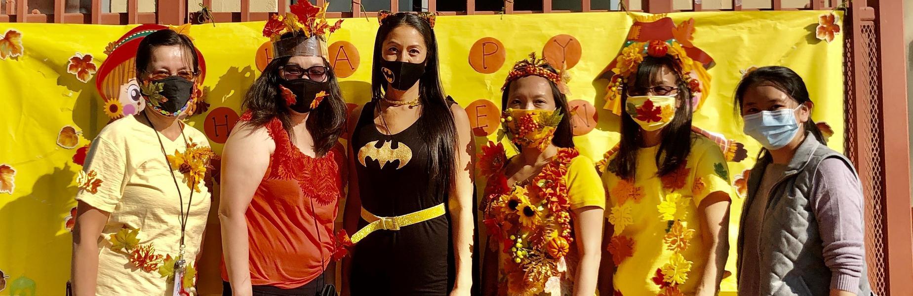 Ramona staff celebrate Halloween