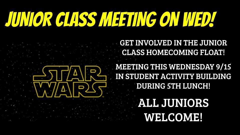 JUNIOR CLASS MEETING
