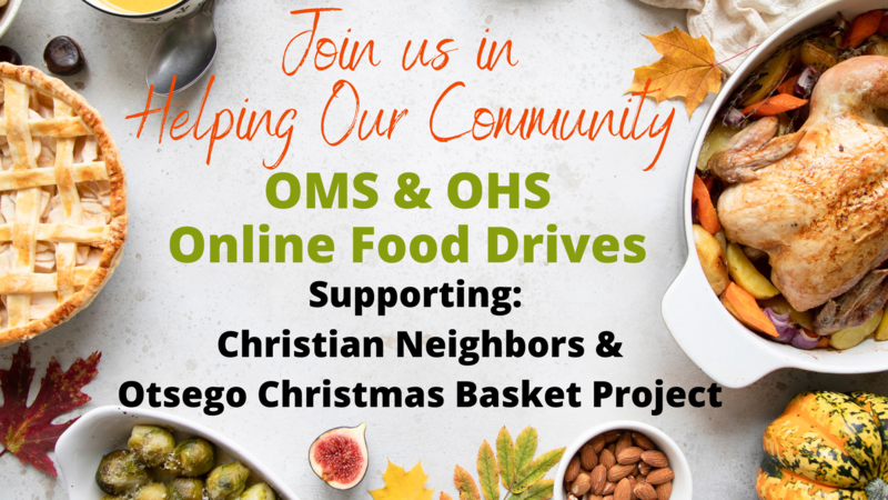 oms ohs food drive graphic