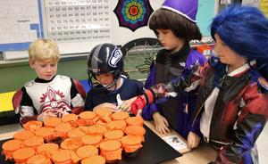 Photo of students dressed for Halloween at Tamaques.