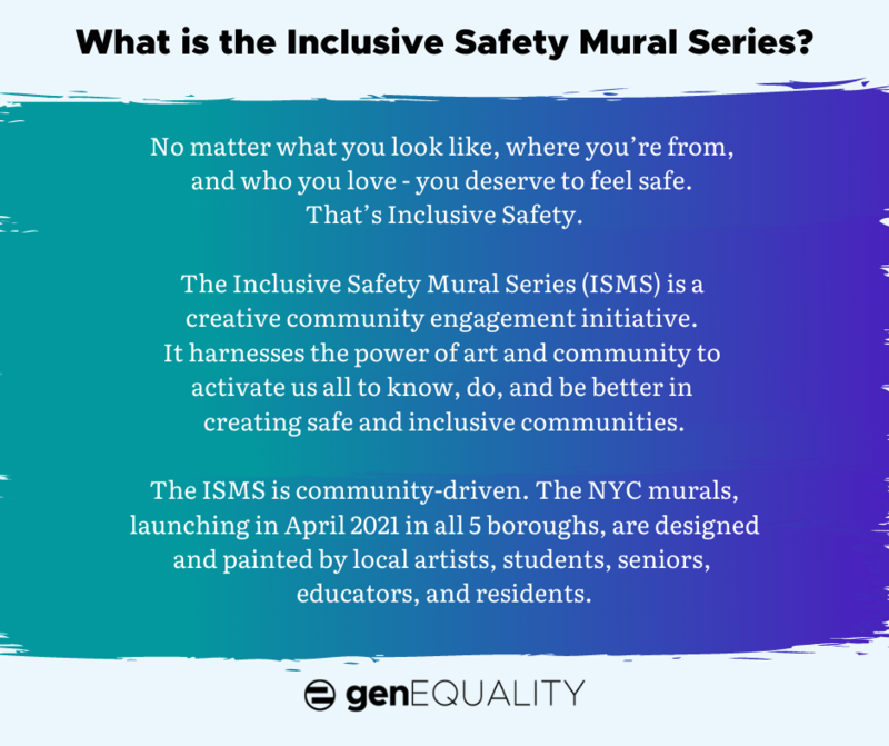 Inclusive Safety Mural Series @ Townsend Harris High School Featured Photo
