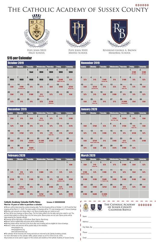 Calendar riffle