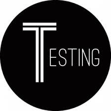 Testing sign image