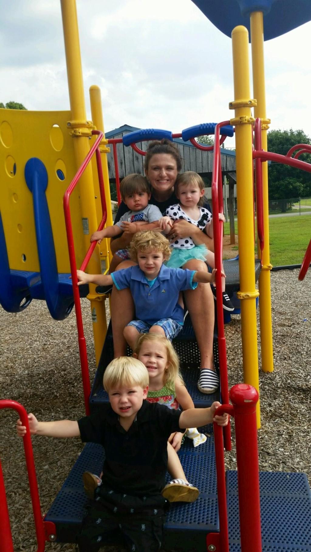 Mrs. Tonya and daycare children