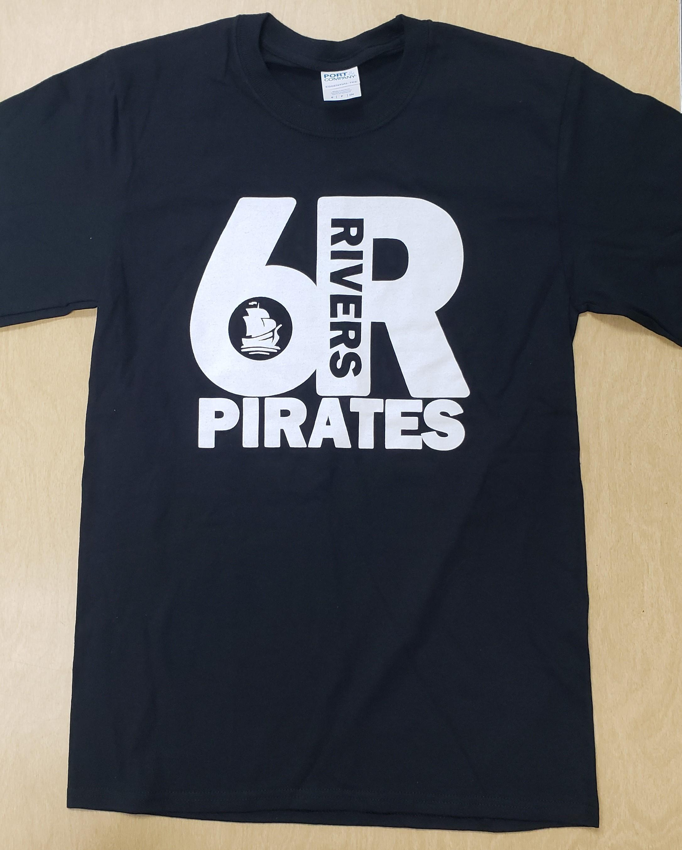 Black Shirt, White Logo -Men's Small - Front Side