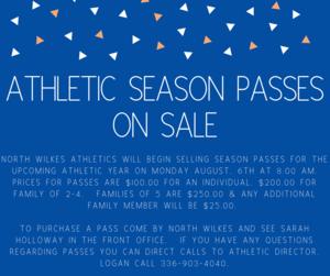 Athletic Season Pass Information