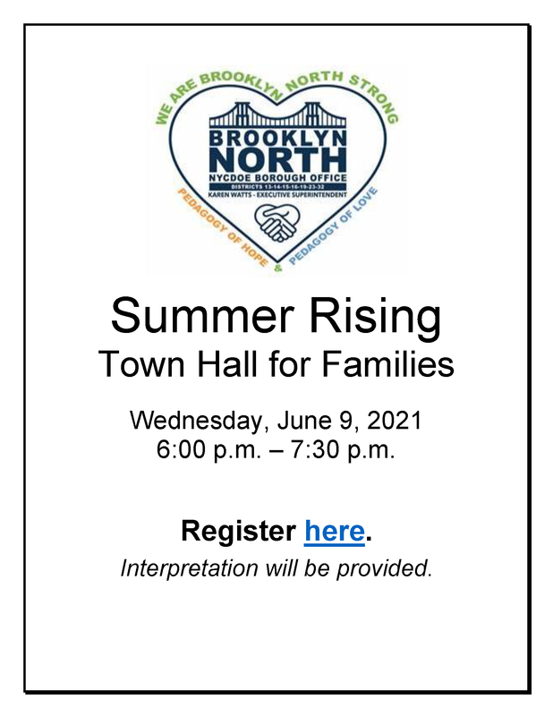 BKN Summer Rising Town Hall for Families - English