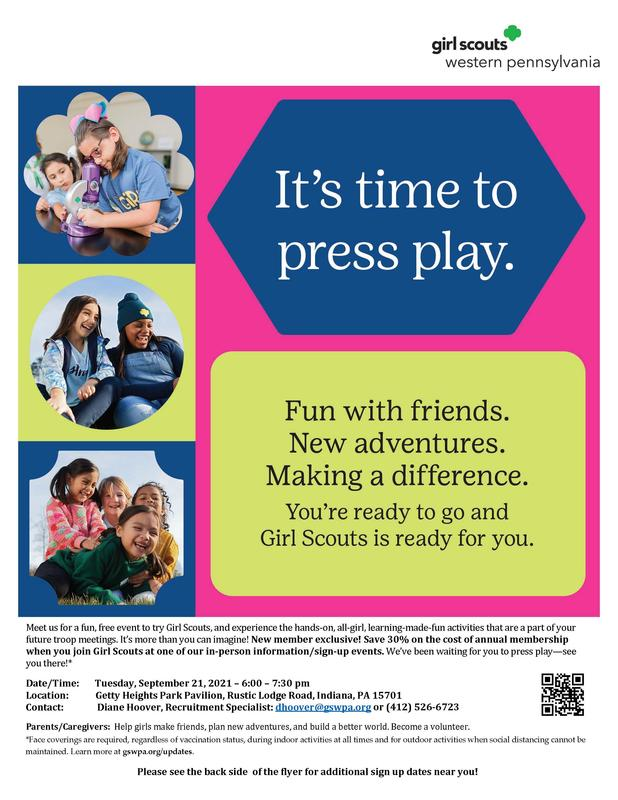 Girl Scouts Sign-Up Night Flier