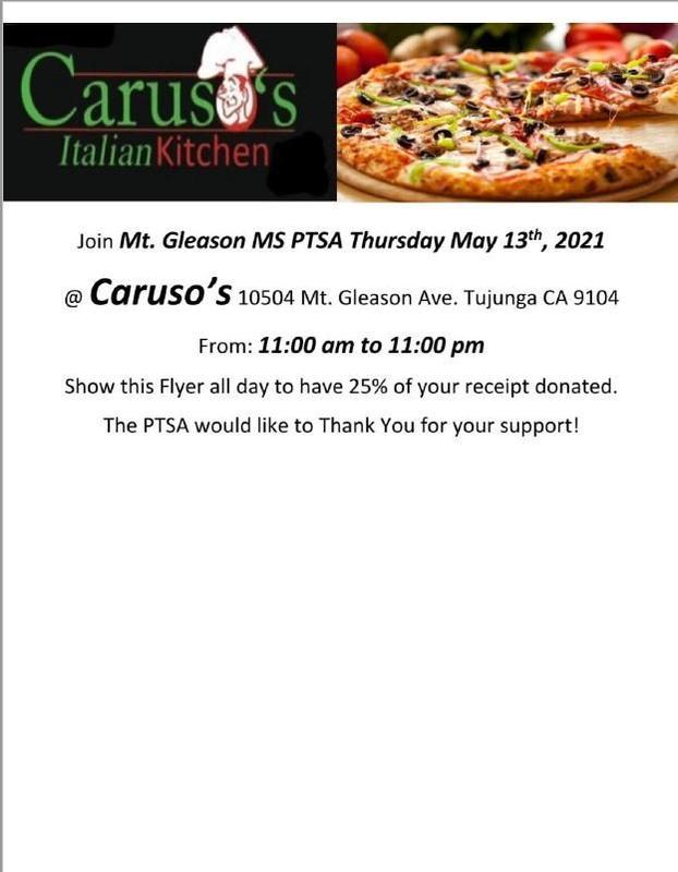 PTSA Caruso's Fundraiser