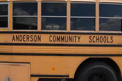 yellow bus with 'Anderson Community Schools' on the side