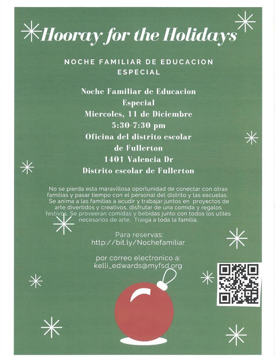 Holiday Flier Spanish