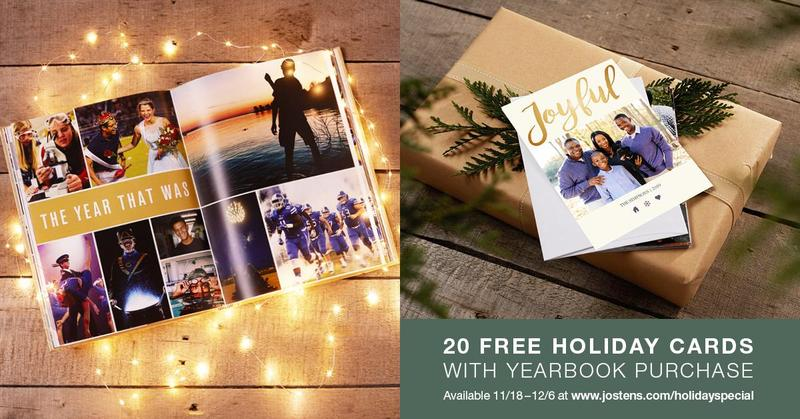Holiday Special! Purchase a yearbook and receive 20 Free Holiday cards Featured Photo