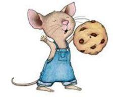 mouse with cookie