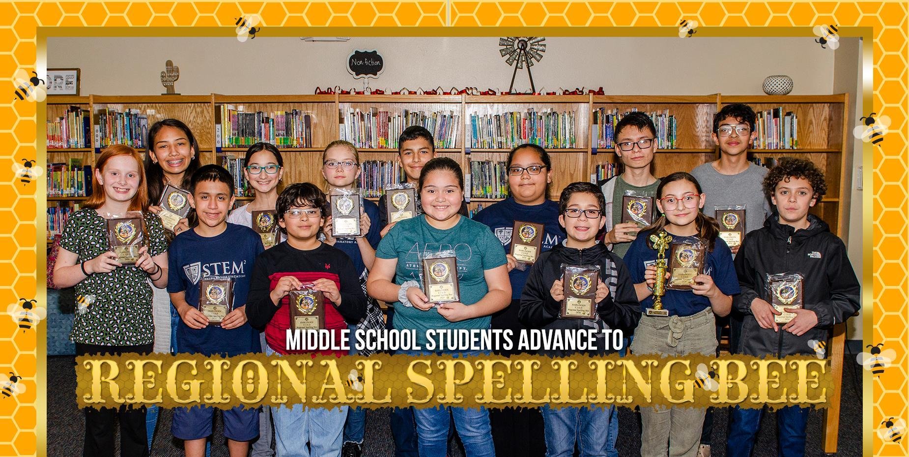 Middle school students advance to regional spelling bee