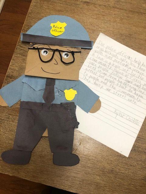 Kylar's police officer puppet