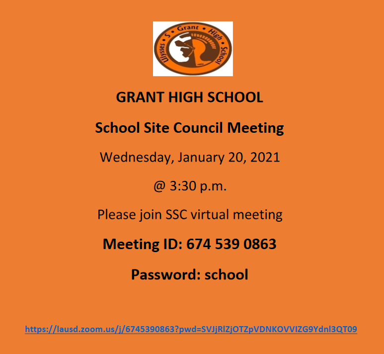 SSC Meeting, Wednesday, January 20, at 3:30 Featured Photo