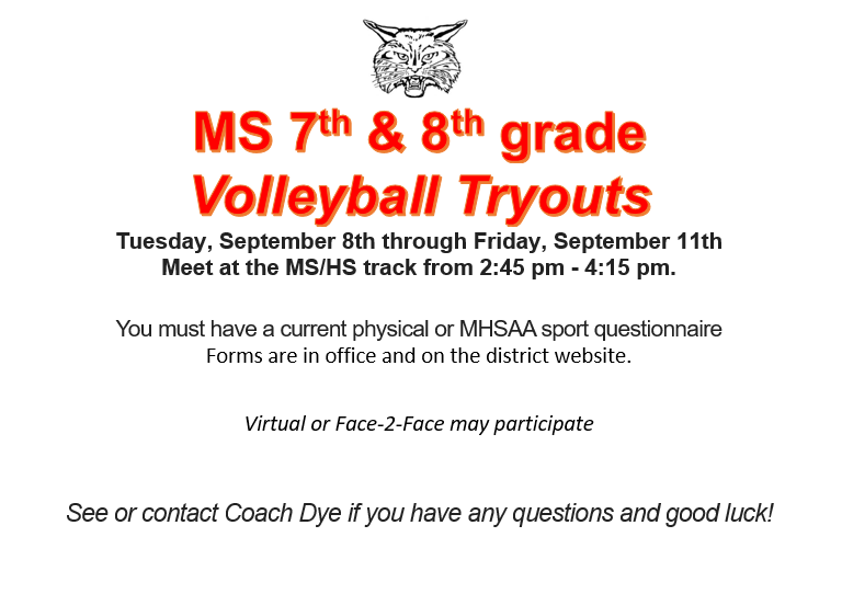 MS 7th & 8th Grade Volleyball Thumbnail Image