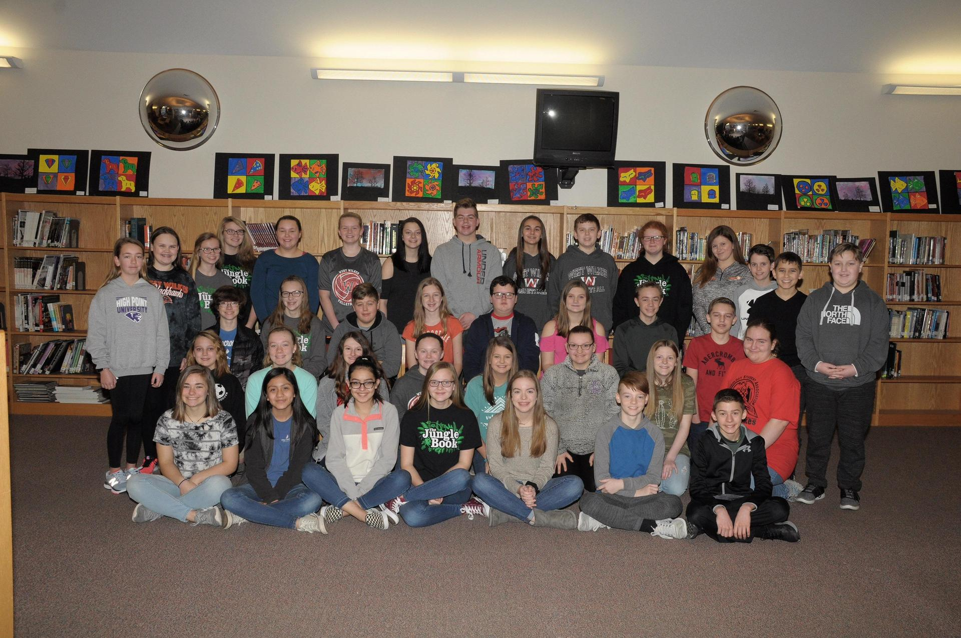 Picture of 7th grade Beta Club members.