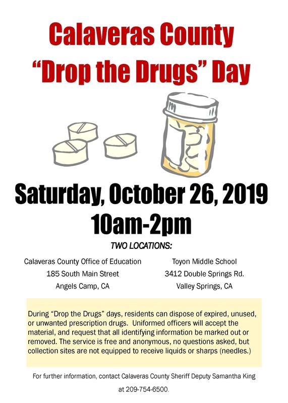Drop the Drugs Flyer