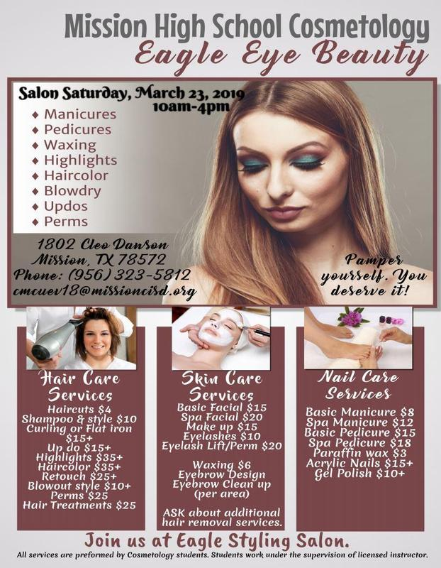 Cosmetology Salon Saturday March 23rd 10 AM - 4 PM Featured Photo