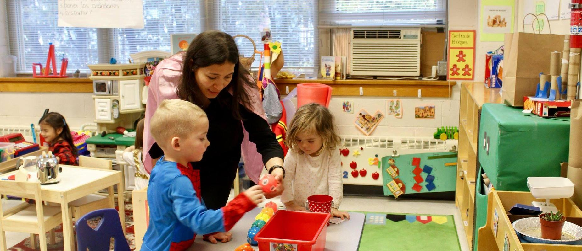 Little Children Doing Fun Classroom Activities