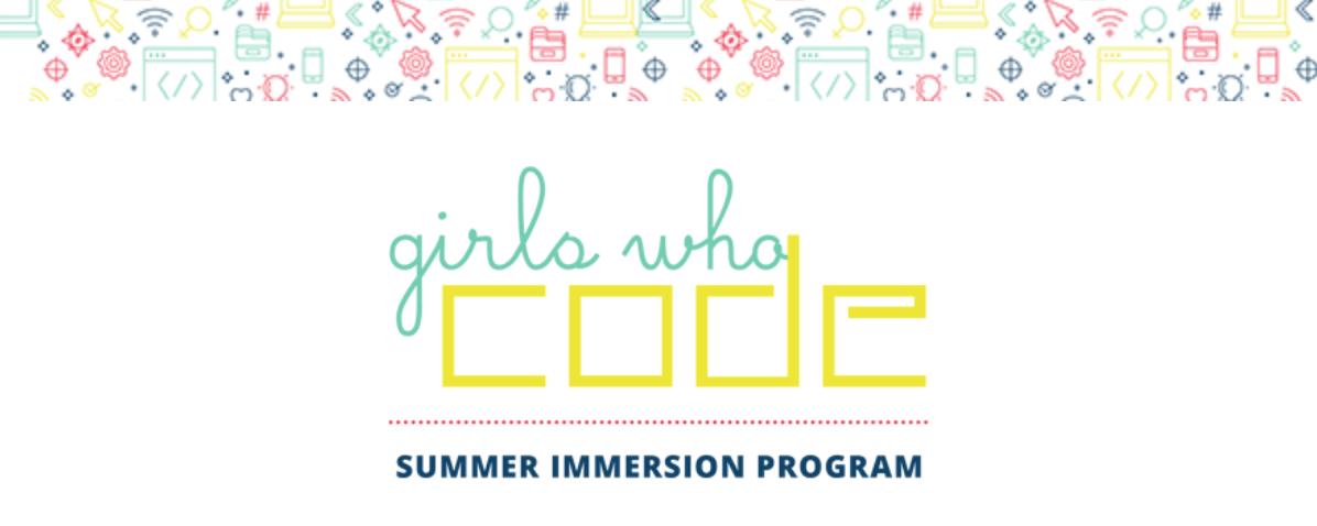 image of girls who code summer immersion program