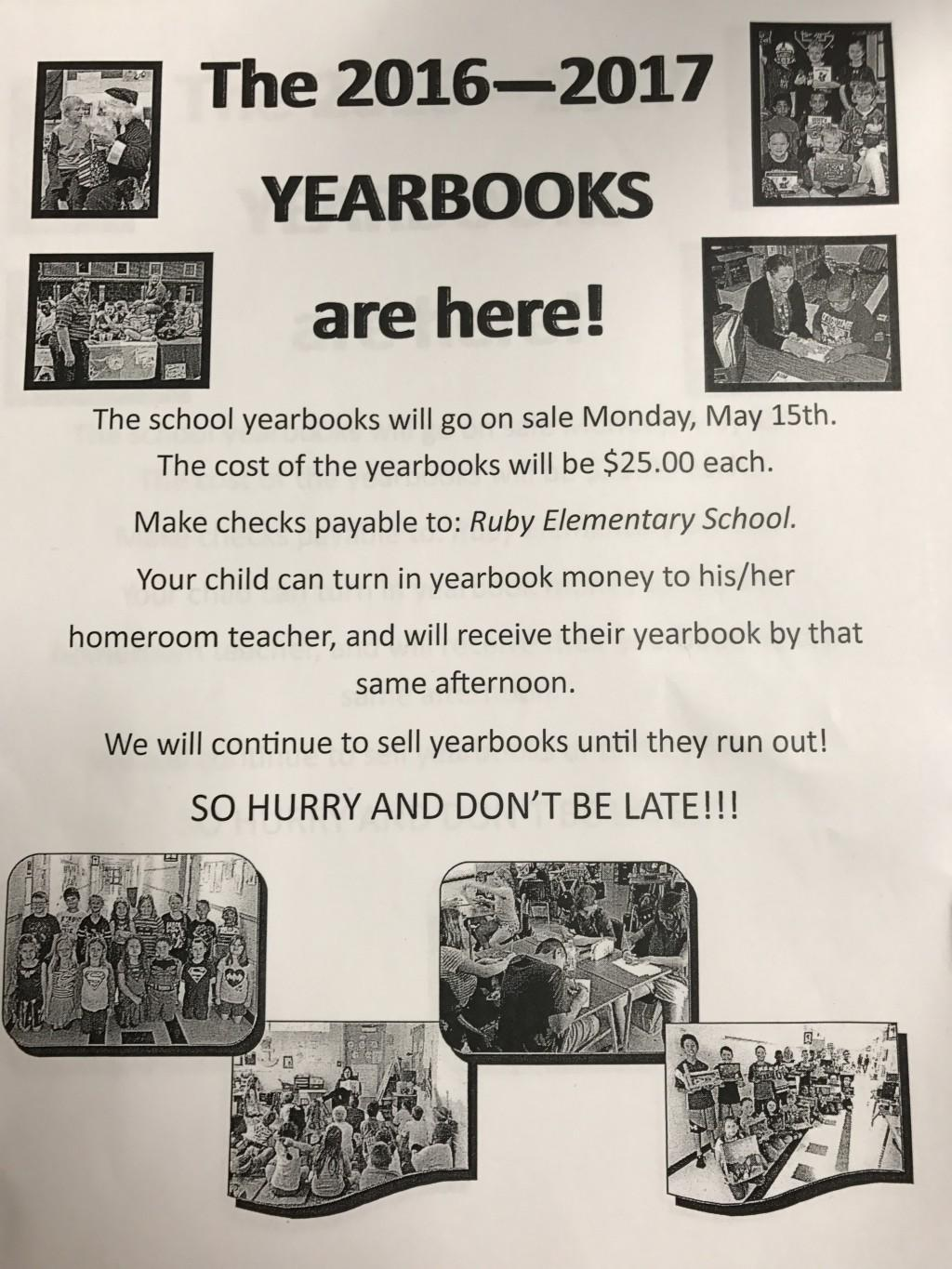 YEARBOOKS ARE HERE !