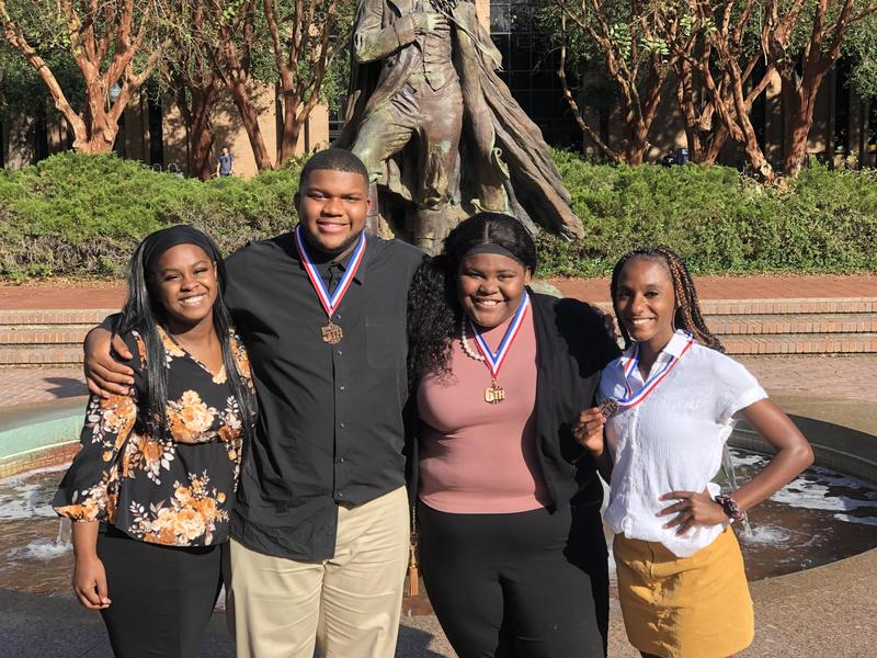 HS Debate Students at UIL Center SFA Contest