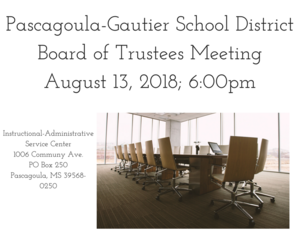 PGSD Board Meeting August 13, 2018