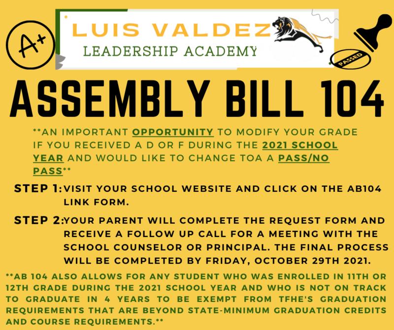 Assembly Bill 104 / Pass/NoPass Featured Photo