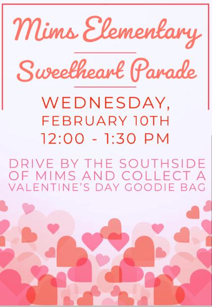Sweetheart parade flyer