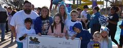 Blue Haze Elementary won third place Most Money Raised in the WSISD Education Foundation's BRRRewer Bear Plunge on Jan. 27.