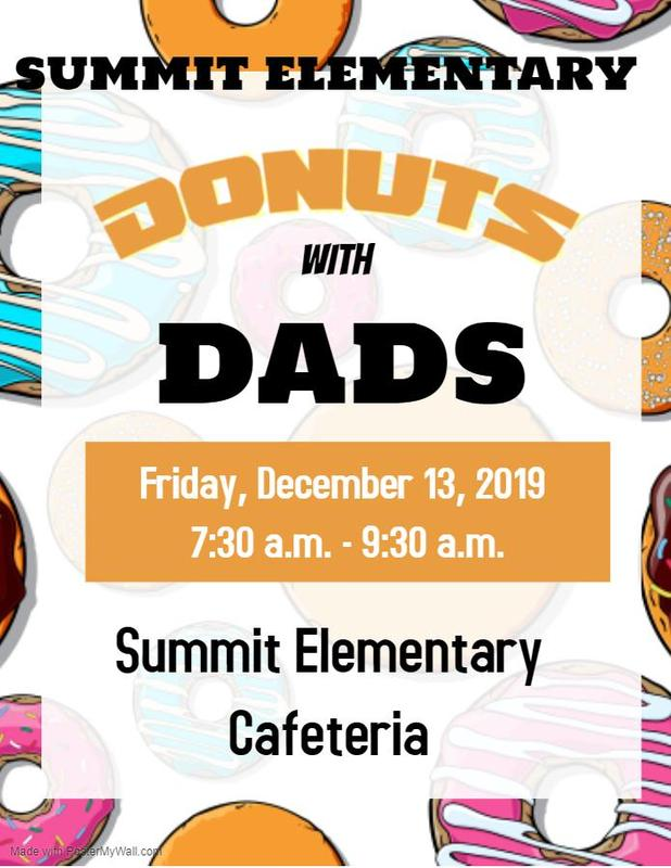 Donuts with Dads at Summit Elementary 2019