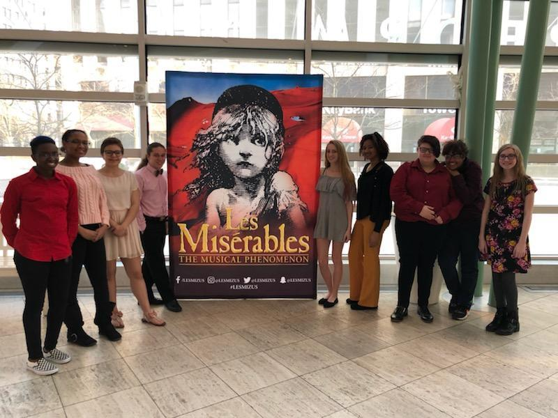 NCH Students attending Les Miserable