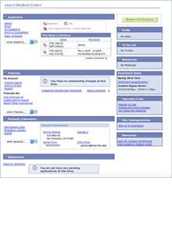 student portal example