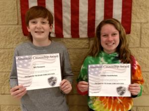 7th Grade Citizenship Winners