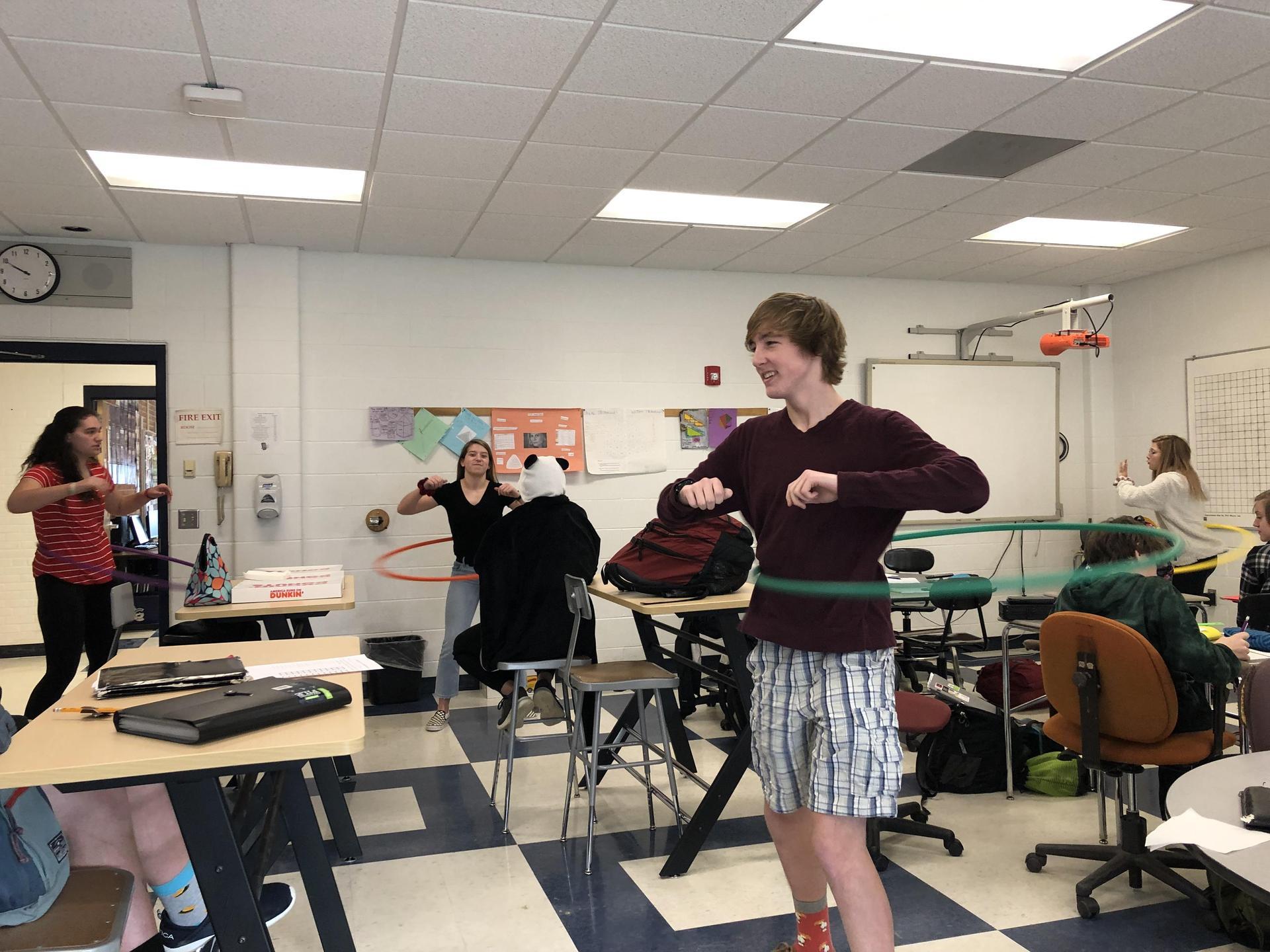 Hula Hoop Fun on Pi Day 1