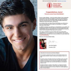 North Catholic Coca-Cola Scholar Award