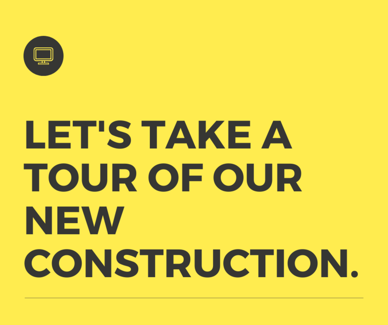 Let's take a tour of the new construction