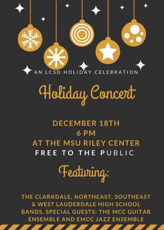 LCSD Holiday Concert Flier