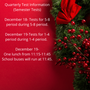 Quarterly tests