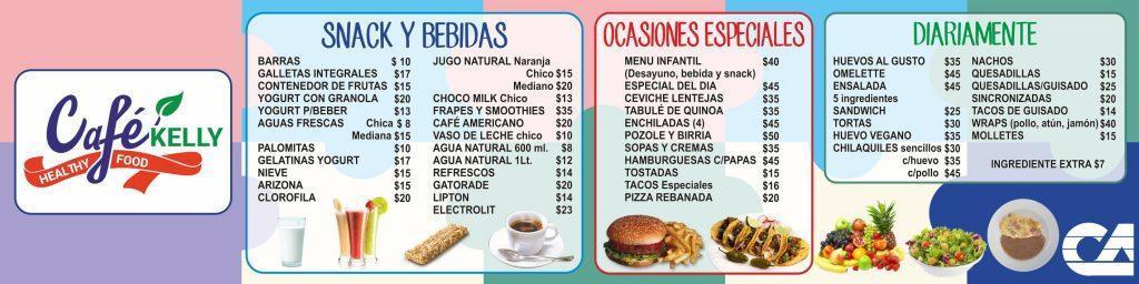 menu diario