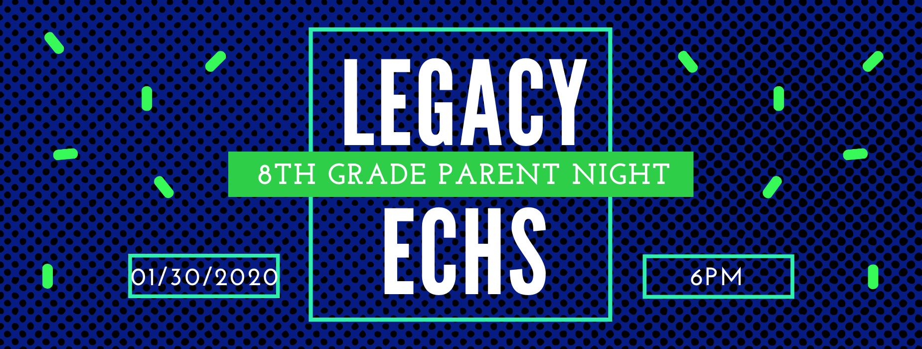 8th Grade Parent Night 1/30 at 6pm