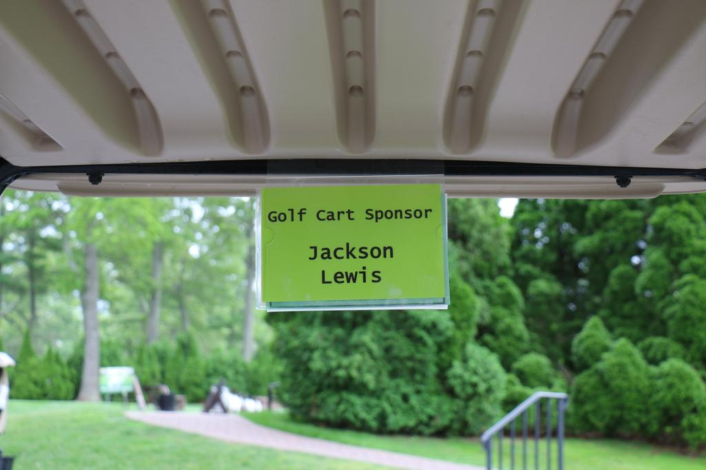 DDI's 2019 Annual Golf Classic golf cart sponsor sign