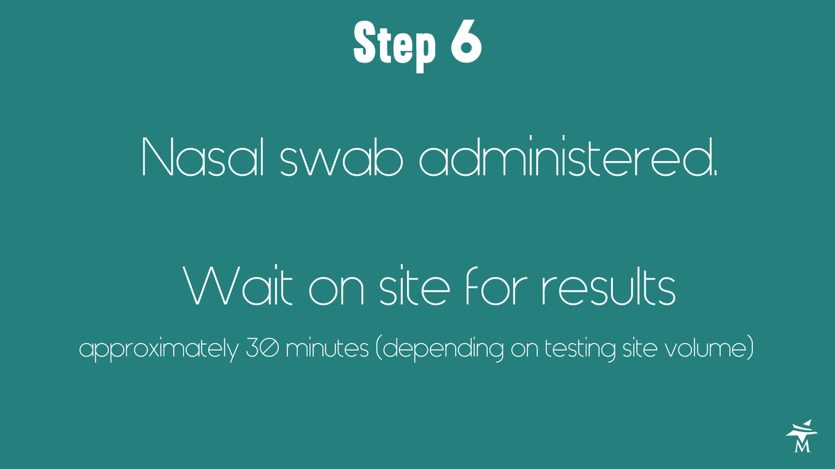 What to expect at the testing site step 6
