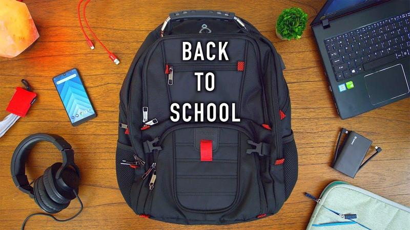 Image of backpack and school supplies