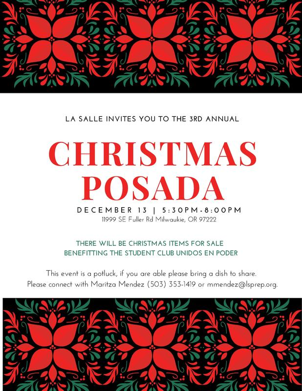 Christmas Posada poster in English