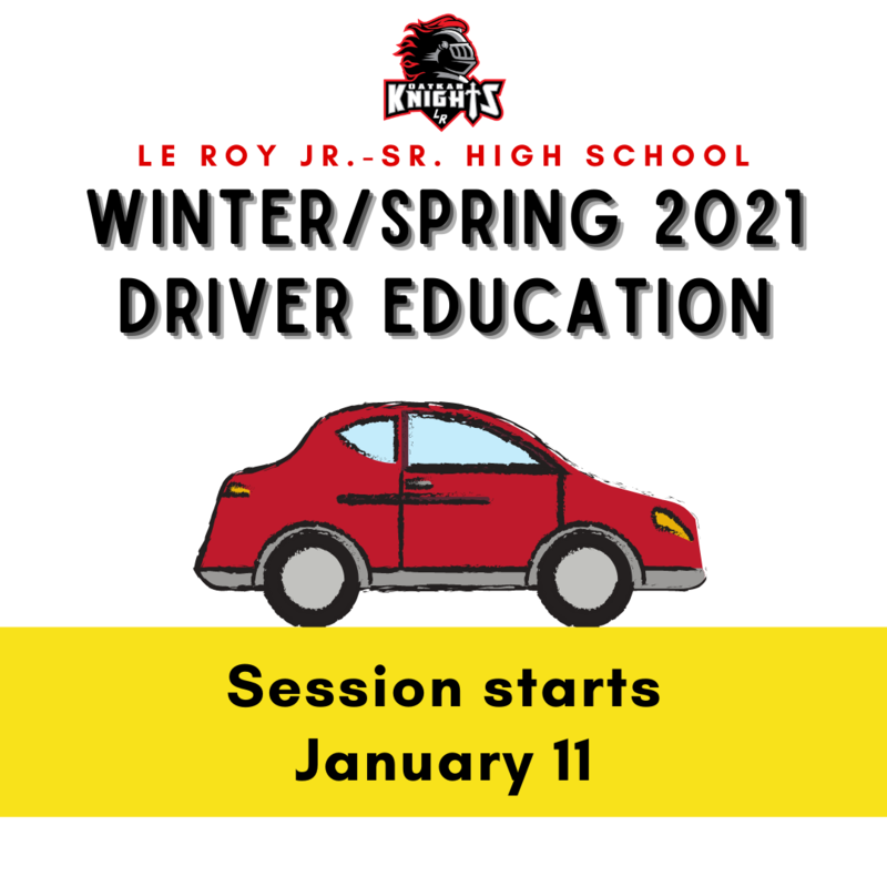 Winter/Spring 2021 Driver Education