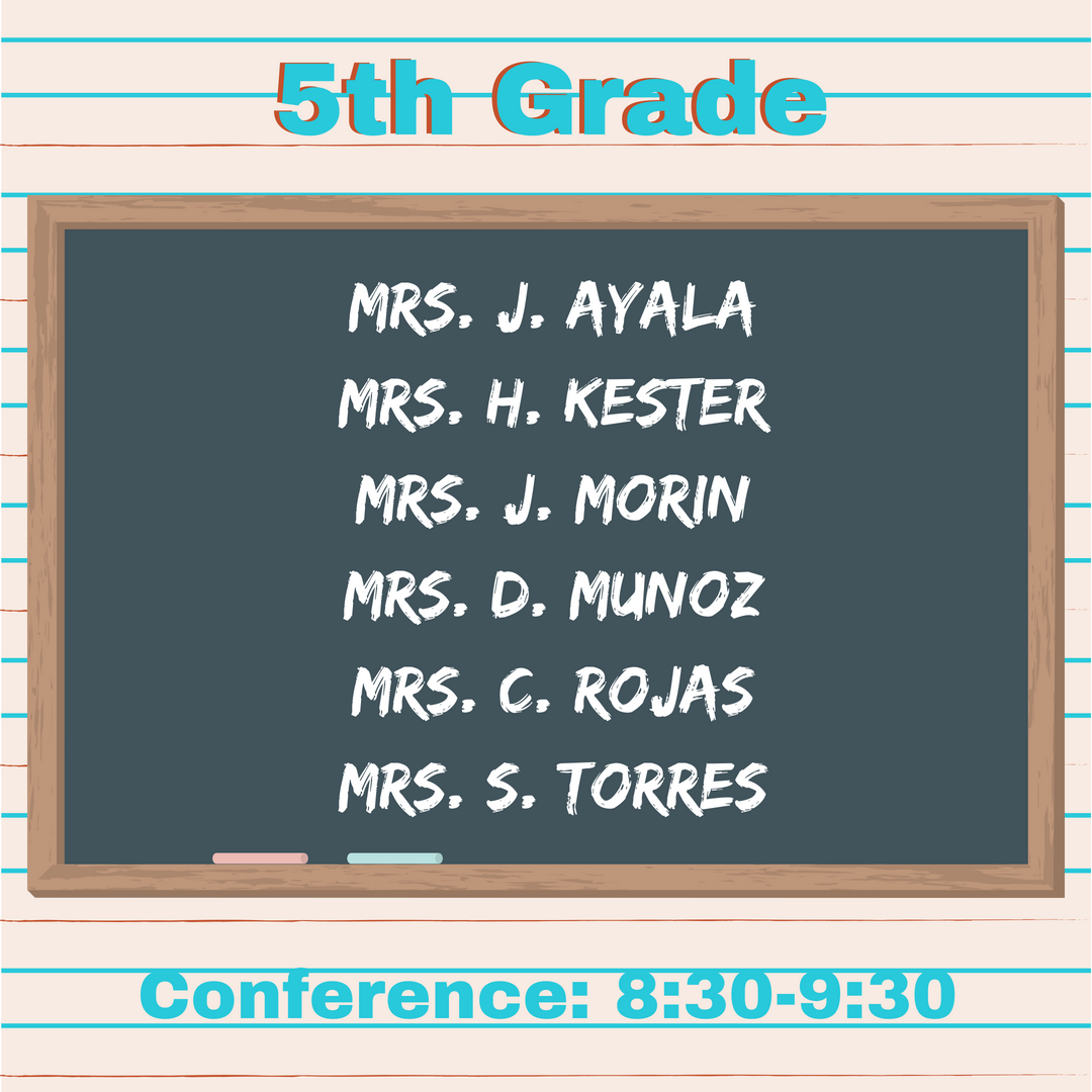 5th Grade Teachers