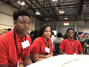 Photo from the JAG state Leadership conference in which Baker Middle JAG officers attended